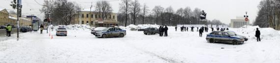 Пикет против налога на недвижимость в Санкт-Петербурге.